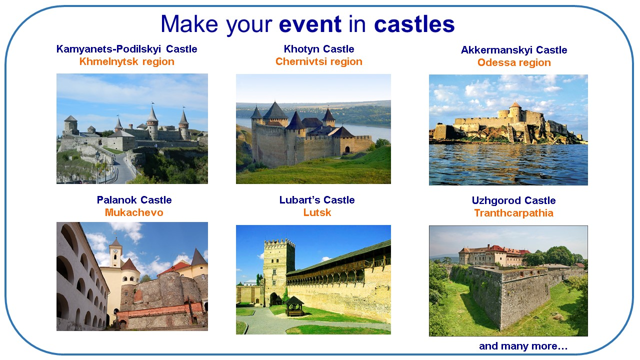 few MICE ideas for group travel to Castles (Ukraine)