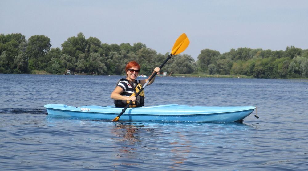 Kayaking in Kyiv (Ukraine)