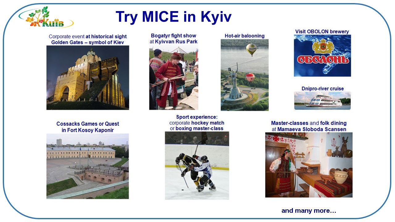 few ideas for MICE in Kyiv (Ukraine)
