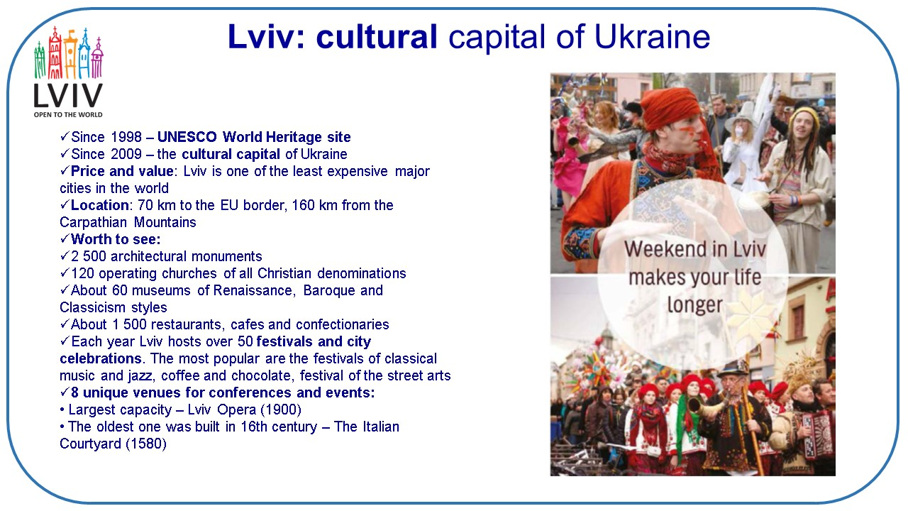 few MICE ideas for group travel to Lviv(Ukraine)