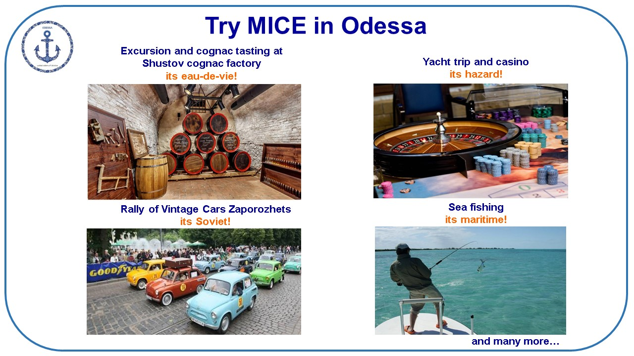 few MICE ideas for group travel to Odessa (Ukraine)