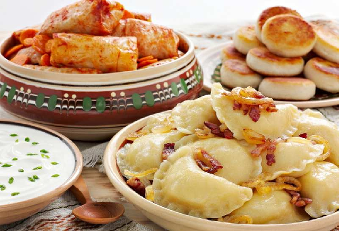 Ukrainian authentic cuisine is very tasty